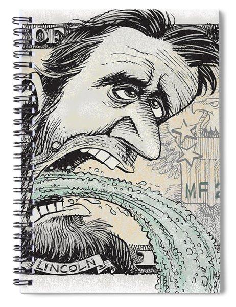 Lincoln Barfs Spiral Notebook