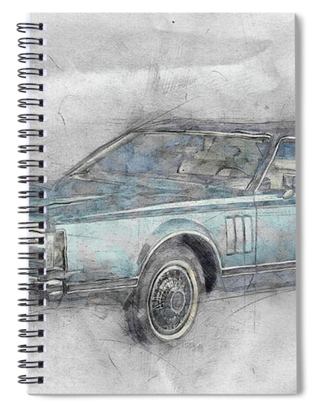 Lincoln Continental Mark V 1 - 1977 - Automotive Art - Car Posters Spiral Notebook