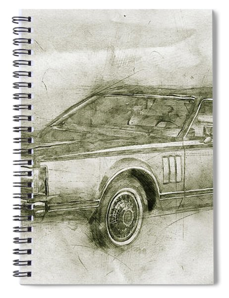 Lincoln Continental Mark V - 1977 - Automotive Art - Car Posters Spiral Notebook