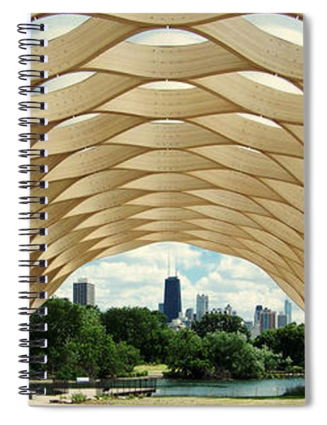 Lincoln Park Zoo Nature Boardwalk Panorama Spiral Notebook