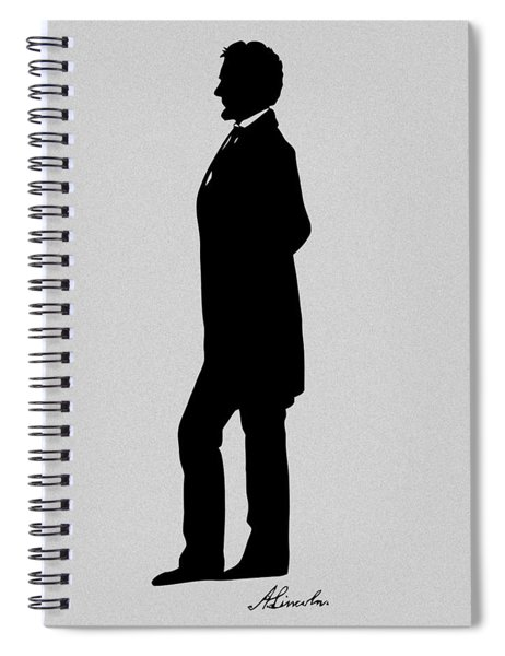Lincoln Silhouette And Signature Spiral Notebook