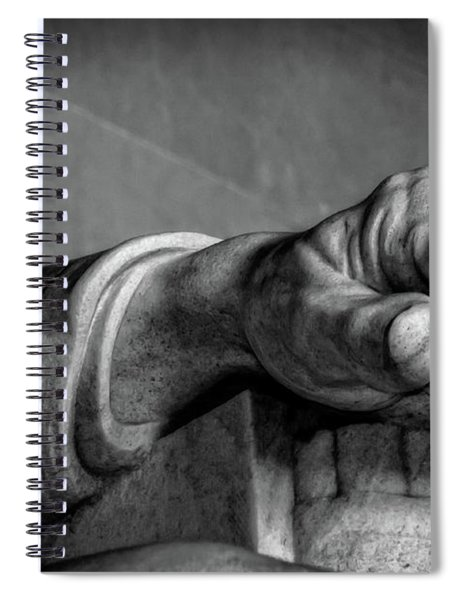 Lincoln's Left Hand B-w Spiral Notebook