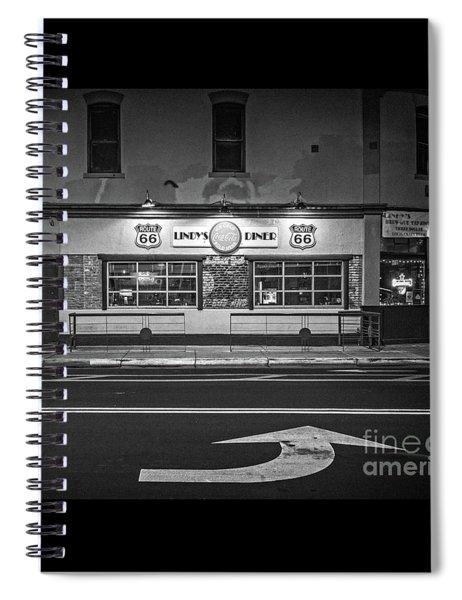 Lindy's Diner On Route 66 Spiral Notebook