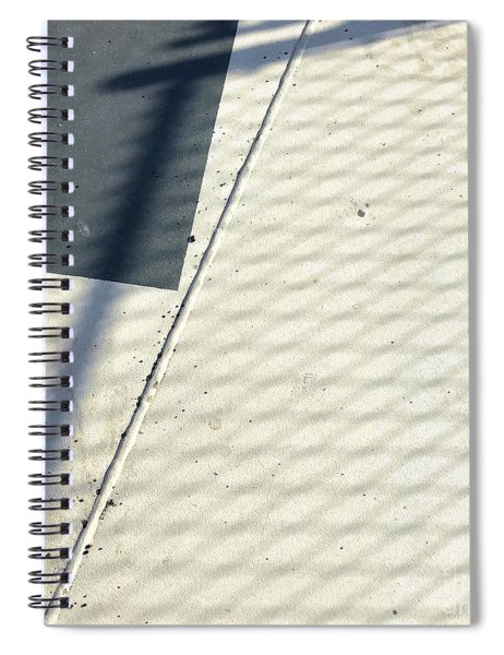 Line And Shadow Spiral Notebook