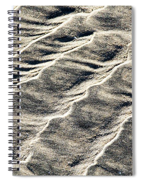 Lines On The Beach Spiral Notebook