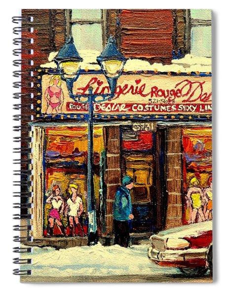 Lingerie Rouge Desire Spiral Notebook
