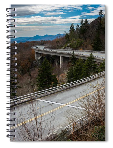 Linn Cove Viaduct Late Fall Spiral Notebook