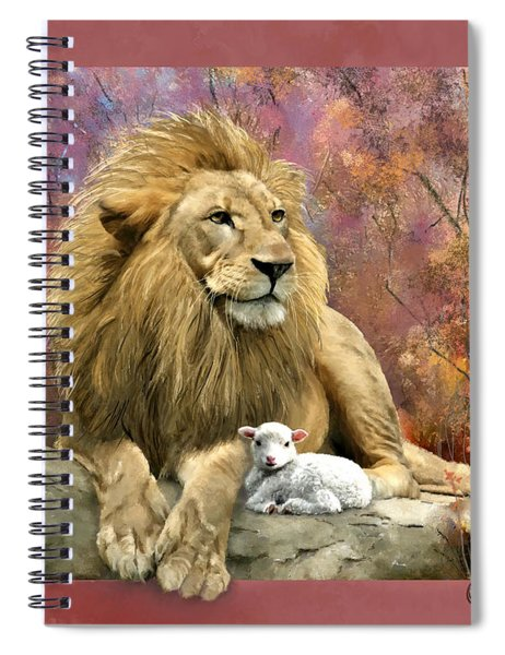 Lion And The Lamb Spiral Notebook