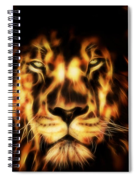 Lion Fractal - Close Up Spiral Notebook