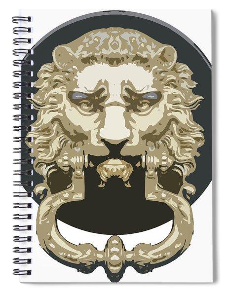 Lion Knocker Spiral Notebook