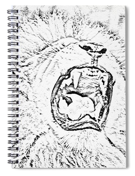 Lion Roar Drawing Spiral Notebook