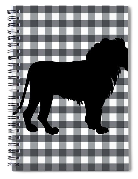 Lion Silhouette Spiral Notebook