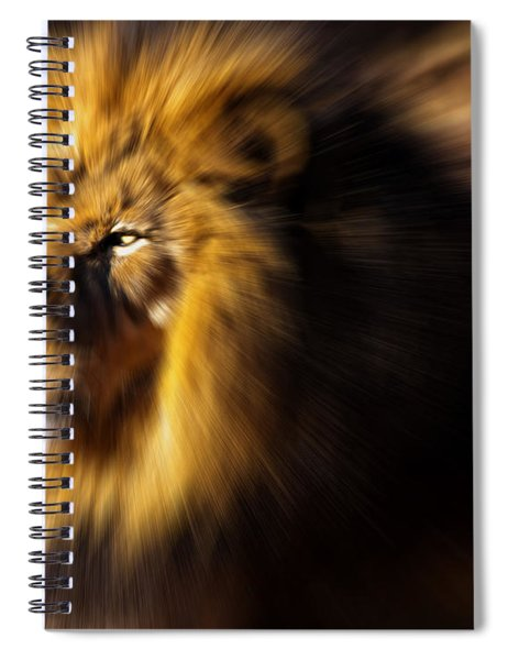 Lion The King Is Comming Spiral Notebook