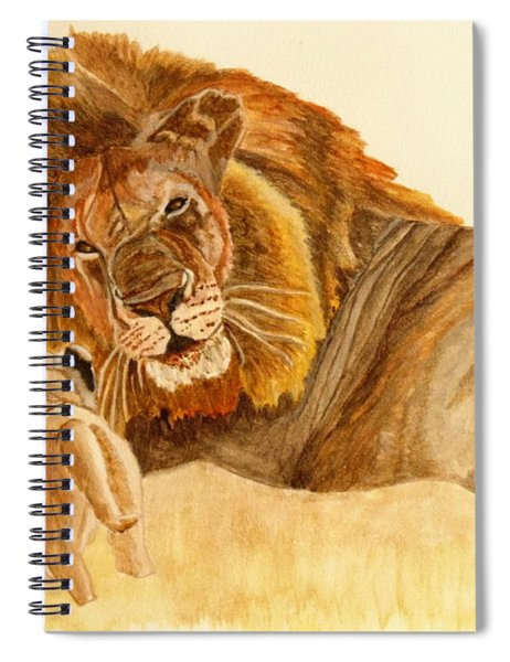 Lion Watercolor Spiral Notebook