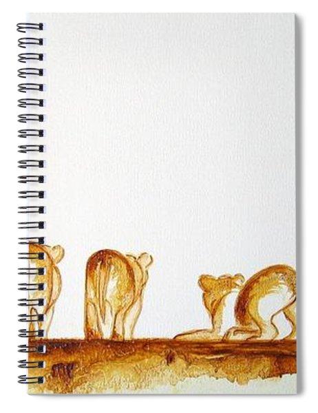 Lioness And Cubs Small - Original Artwork Spiral Notebook