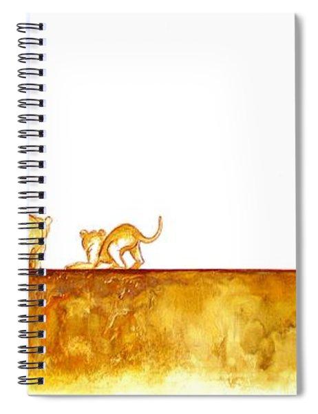 Lioness And Cubs - Original Artwork Spiral Notebook