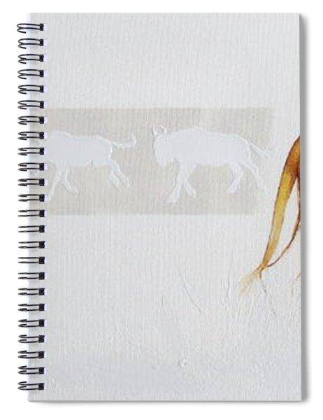 Lioness And Wildebeest Spiral Notebook