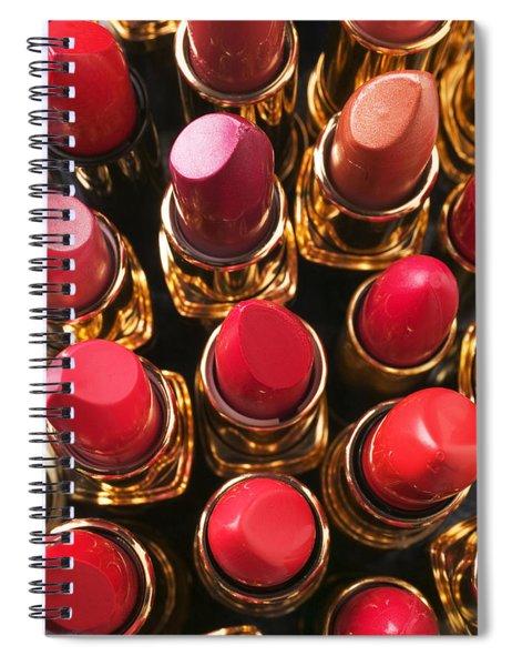 Lipstick Rows Spiral Notebook