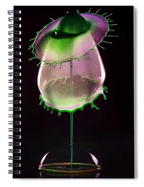 Liquid Art Impression With Bubble Spiral Notebook