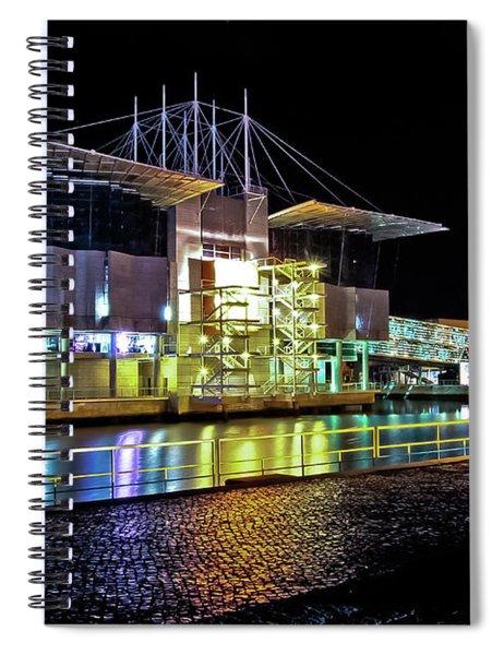 Lisbon - Portugal - Oceanarium At Night Spiral Notebook