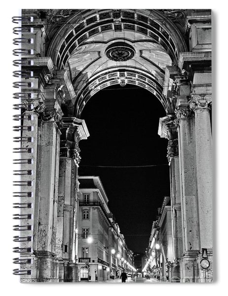 Lisbon - Portugal - Triumphal Arch - Rua Augusta Spiral Notebook