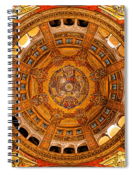 Lisieux St Therese Basilica Dome Ceiling Spiral Notebook