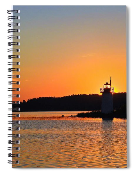 Lit By The Sun Spiral Notebook