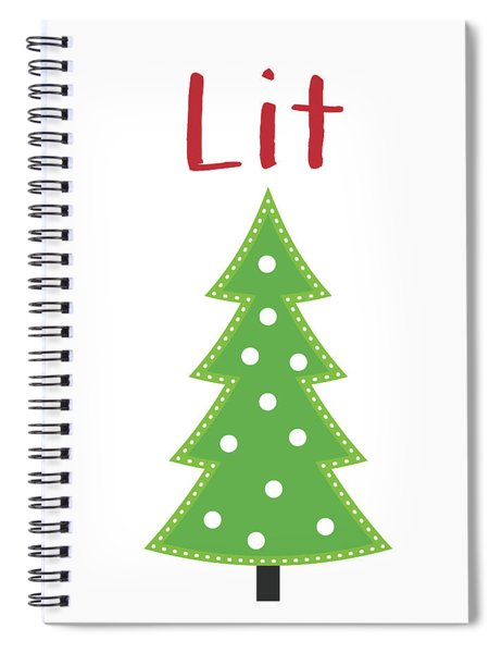 Lit Christmas Tree- Art By Linda Woods Spiral Notebook