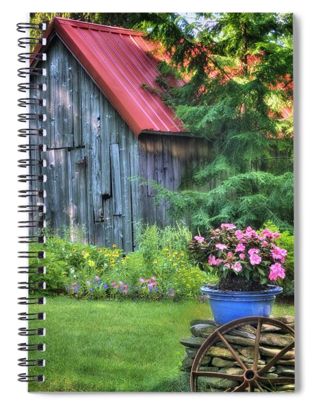 The Country Cottage Garden  Spiral Notebook
