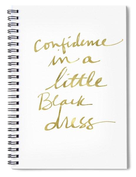Little Black Dress Gold- Art By Linda Woods Spiral Notebook