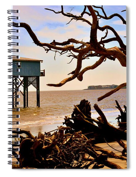 Little Blue Hunting Island State Park Beaufort Sc Spiral Notebook