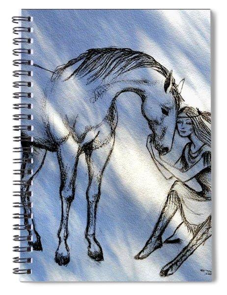 Little Deer And Wind Spirit Spiral Notebook