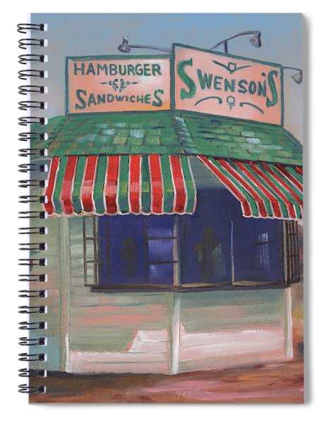Little Drive-in On South Hawkins Ave Spiral Notebook