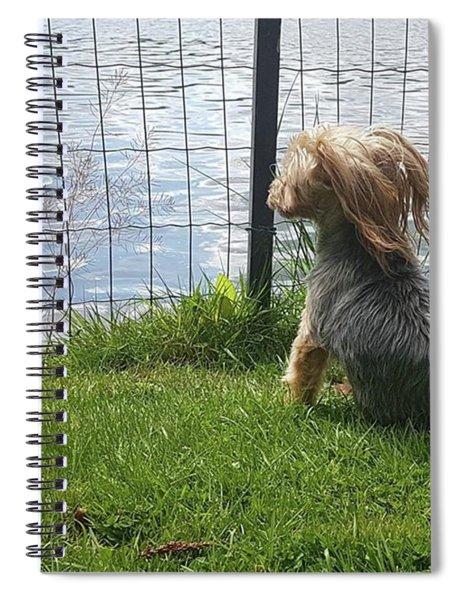 Enjoying The Breeze Spiral Notebook