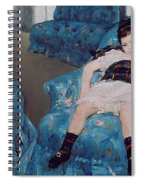 Little Girl In A Blue Armchair Spiral Notebook