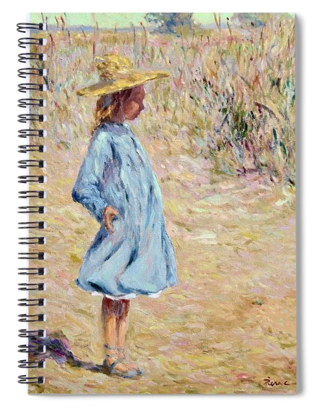 Little Girl With Blue Dress Spiral Notebook