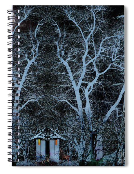 Little House In The Woods Spiral Notebook