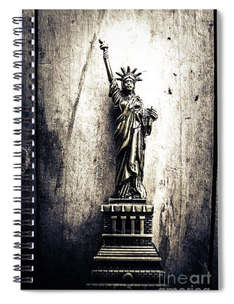 Little Lady Of Vintage Usa Spiral Notebook