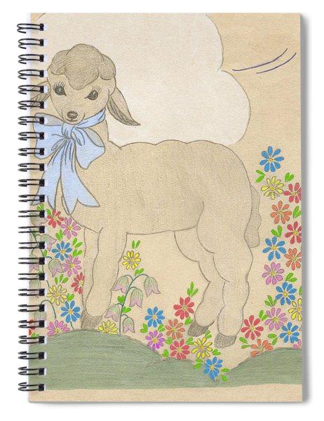 Little Lamb Lightened Spiral Notebook