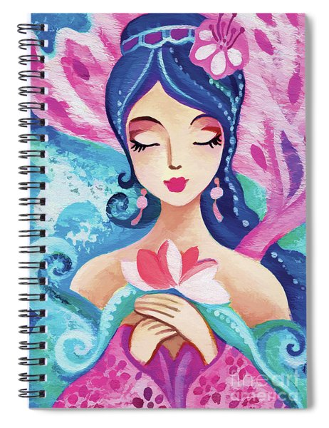 Little Quan Yin Mermaid Spiral Notebook
