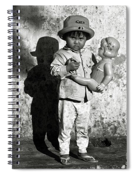 Little Vietnamese Girl Playing With Her Doll Spiral Notebook