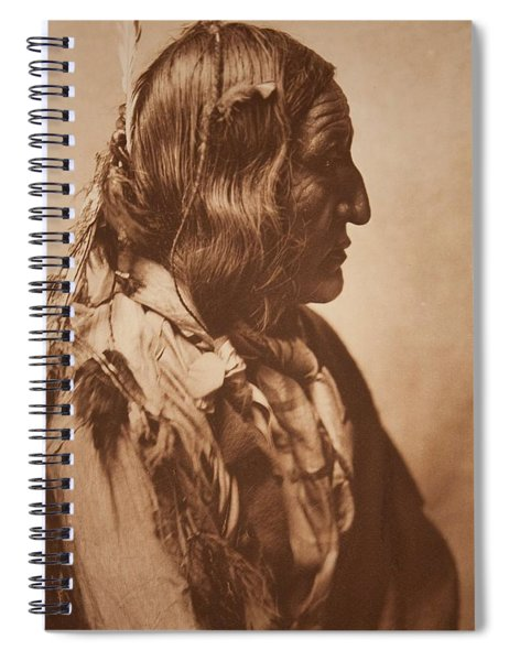 Little Wolf - Cheyenne , Native American By Edward Sheriff Curtis, 1868 - 1952 Spiral Notebook
