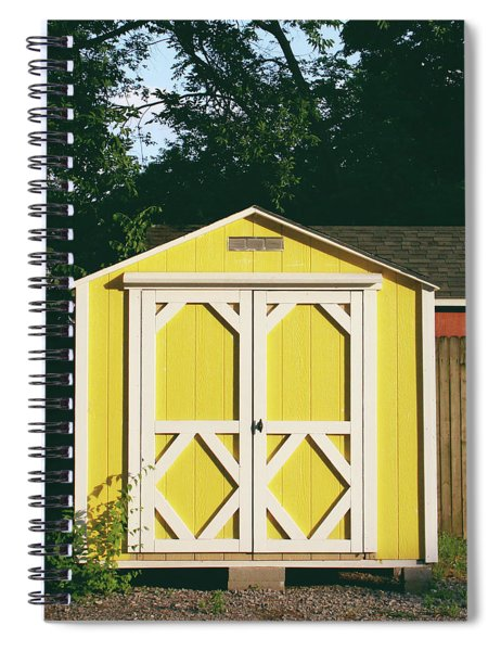 Little Yellow Barn- By Linda Woods Spiral Notebook