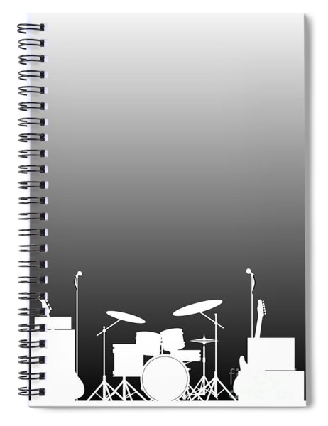 Live Band Poster Spiral Notebook