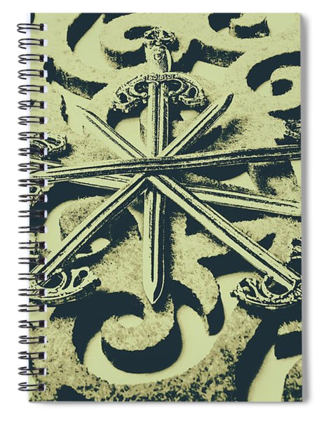 Live By The Sword Spiral Notebook