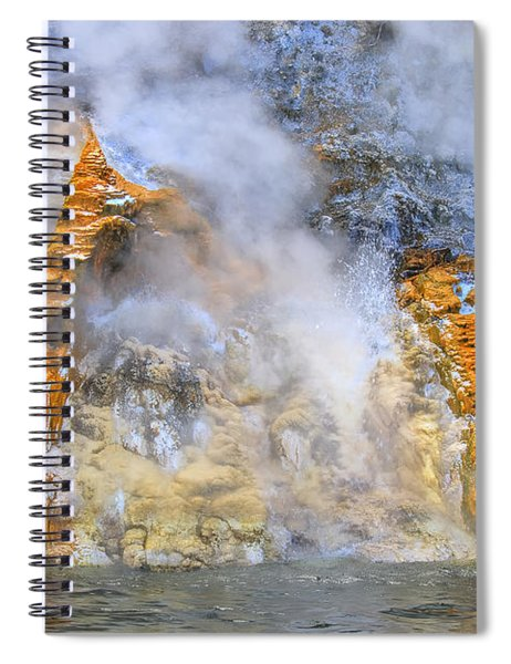 Steaming Rocks  In New Zealand Spiral Notebook