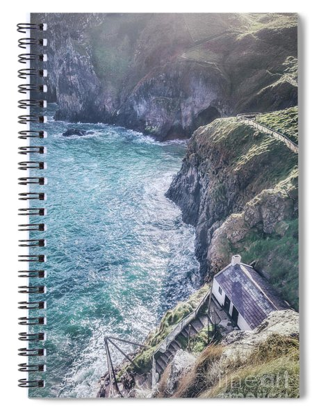 Living On The Edge Of The World Spiral Notebook