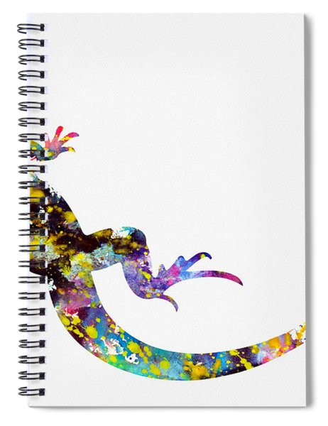 Lizard-colorful Spiral Notebook