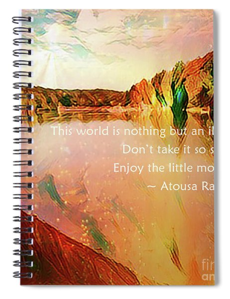 Spiral Notebook featuring the photograph World Of Illusion by Atousa Raissyan