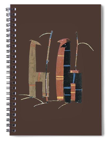 Llamas T Shirt Design Spiral Notebook